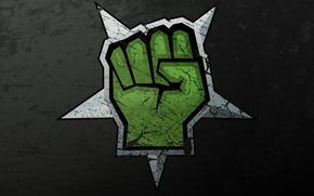 Картинка зеленый, текстура, кулак, сопротивление