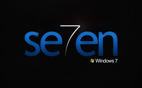 Картинка seven, windows, система