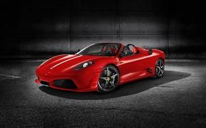Обои красный, Ferrari F430, спорткар, Scuderia-Spider