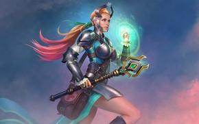 Картинка девушка, жезл, Juggernaut Wars, Healer Cassandra