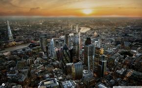 Картинка city, London, skyscrapers