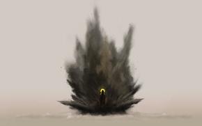 Обои взрыв, рисунок, избранный, второе пришествие
