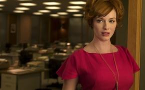 Картинка женщина, актриса, рыжая, Christina Hendricks, Joan Harris