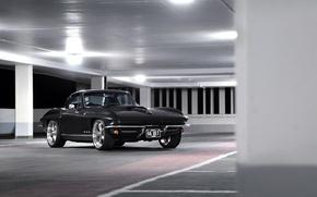 Картинка Corvette, Chevrolet, Black, 1964