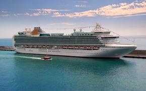 Картинка море, фото, корабль, круизный лайнер