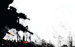 Обои город, оружие, солдаты