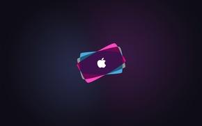 Картинка apple, colorful, mac, logo, hi-tech, brand, backround