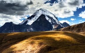 Картинка небо, облака, горы, Китай, Тибет, Tibet, Сhina