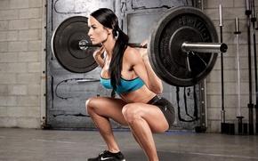 Обои fitness, brunette, hard work