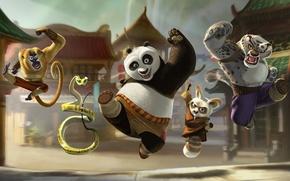 Картинка Кунг-фу панда, kung fu panda, мультфильм, по, po, мастер угвэй