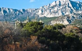 Картинка горы, природа, крым, ай-петри, воронцовский дворец