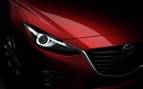 Обои фара, Mazda 3, Sedan, мазда, седан, красная
