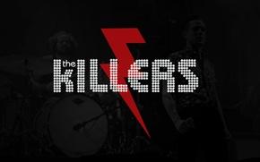 Картинка music, rock, logo, Flowers, band, battle, song, born, The Killers, Brandon
