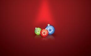 Обои шарики, украшения, праздник, новый год, рождество