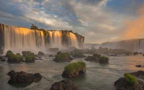 Картинка река, водопад, Бразилия, Парана, Национальный парк Игуасу