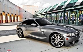 Обои BMW, серебристая