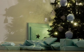 Картинка праздник, подарки, ёлка