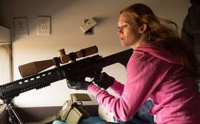 Обои Саботаж, снайперская, Sabotage, винтовка, боевик, Мирей Инос, Mireille Enos