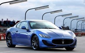Картинка Maserati, sport, blue, Granturismo