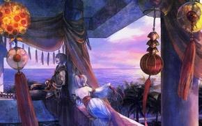 Картинка музыка, красота, горизонт, пара, восток, love, экзотика, Music
