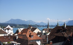 Картинка SWITZERLAND, Lucerne, Vierwaldstättersee, Lake Lucerne, ALPS