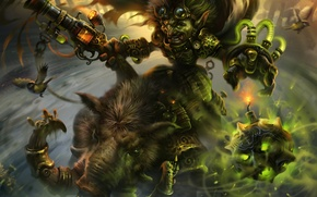 Картинка toxic, кабан, Warcraft, bomber, goblin, Goblins vs Gnomes, Hearthstone: Heroes of Warcraft