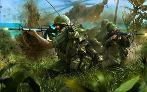 Картинка войны, США, сражение, морской, пляже, Военный, события, Камбоджа, вертолет., последнее, Второй Индокитайской, Кох-Танга, инцидент с …