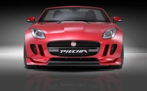 Картинка Roadster, Jaguar, Red, Design, Front, Tuning, F Type, Piecha Design, Piecha, Piecha Design Jaguar F …