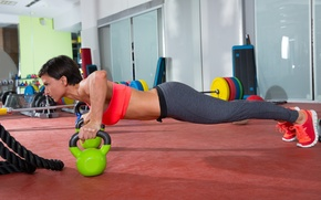 Обои crossfit, routine, workout, Russian dumbbell