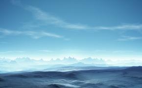 Обои синева, горизонт, Безмятежность