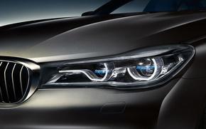 Обои фара, 7-Series, G12, седан, BMW, бмв