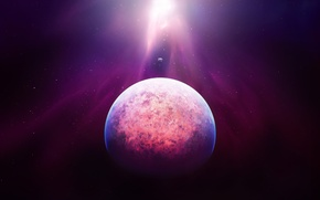 Обои Космос, Сияние, планета, Heavens touch, Planet