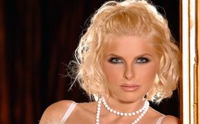 Картинка лицо, ожерелье, блондинка, face, blonde, necklace, Wiska