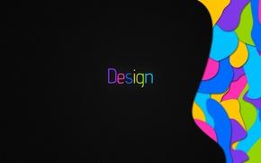 Обои дизайн, абстракция, надпись, узоры, краски, colors, design, patterns, слово, 1920x1080, abstraction, lettering, word