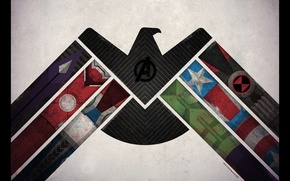Картинка человек, капитан, америка, щит, железный, халк, man, america, тор, captain, hulk, iron, мстители, Avengers, tor