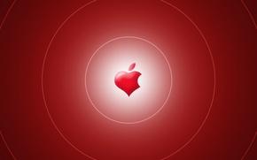 Картинка компьютер, сердце, apple, mac