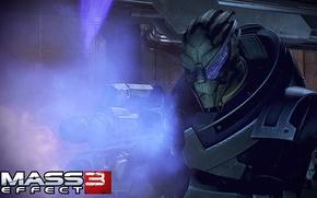 "Картинка солдат, Mass Effect 3, Гаррус Вакариан, винтовка ""мотыга"", турианец"