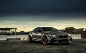 Картинка BMW, Front, Black, Coupe, Matte, Gran, JC Customs