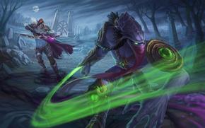 Картинка starcraft, warcraft, sylvanas, Heroes of the Storm, zeratul