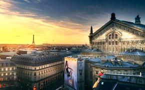 Картинка Франция, Париж, Opera, Eiffel Tower