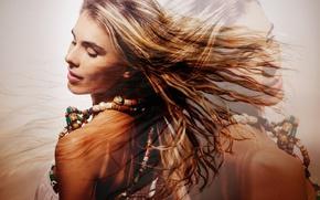 Картинка girl, dress, hair, necklace