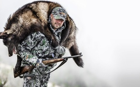 Картинка winter, wof, hunter, hunting, men