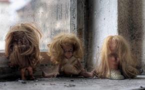 Картинка фон, куклы, окно
