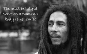Картинка Music, Bob Marley, Hair, Text, Balck&White