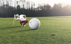 Обои игра, мяч, гольф