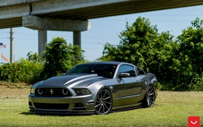 Картинка Mustang, Ford, wheels, vossen