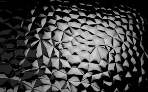 Картинка стекло, мозаика, черный, кусочки, glass, black, background, mosaic