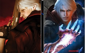 Картинка Данте, Неро, Devil May Cry 4, Red Queen, Tri, Rebelion