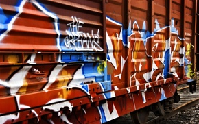 Обои граффити, поезд, вагон