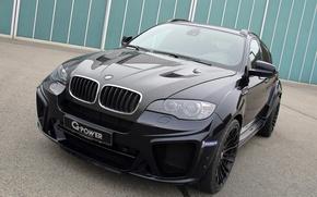 Картинка черный, бмв, BMW, G-Power, Black, кроссовер, E71
